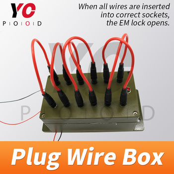 Plug Wire Box Escape Room Props all the wires are inserted into the right sockets to open the door chamber room YOPOOD the bloody chamber