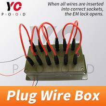 Plug Wire Box Escape Room Props lock Game all the wires are inserted into the right sockets to open the door chamber room YOPOOD room escape props tool running game trigger magnetic locks users can be modify run time open the games organs tools