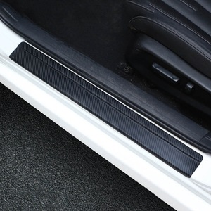 4Pcs/Set Universal Car Styling Sticker 3D Carbon Fiber Door Sill Scuff Plate Guards Door Sills Protector Car Accessories(China)