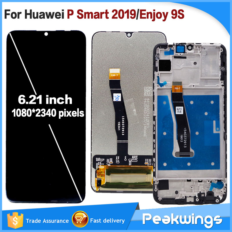 100% Tested 6.21inch LCD For Huawei P Smart 2019 LCD Display Touch Screen Display Assembly Enjoy 9S LCD For P Smart 2019 LCD