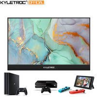 KYLETROC 15.6 HDMI TYPE C 1920*1080P HDR Portable Gaming Monitor For Macbook Samsung DEX Switch PS3 PS4