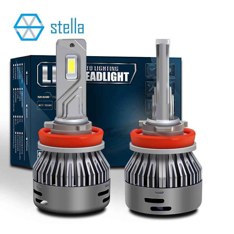 Stella 2 шт. 16000LM 65 Вт 12В/24В светодиодные лампы CANBUS для автомобильных фар H4 H7 H8/H11 HB3/9005 80mil большой чип 6000k Светодиодные лампы для автомобиля