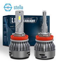 Stella – ampoules CANBUS pour phares de voiture, 2 pièces, 16000LM 65W 12V/24V, H4 H7 H8/H11 HB3/9005 80mil, grande puce 6000k