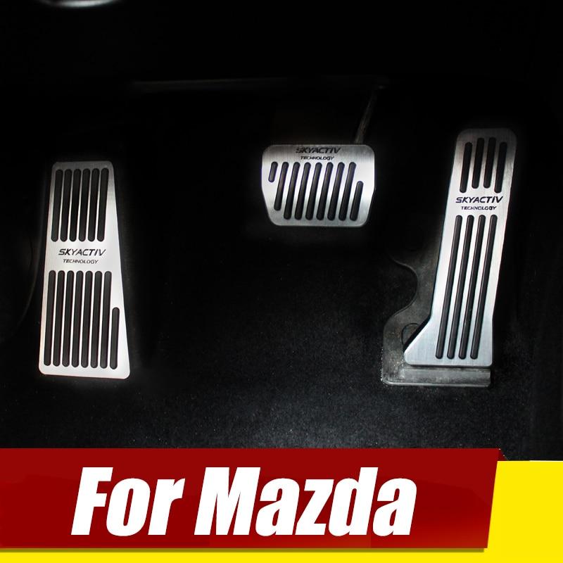 Dla Mazda 3 6 CX-5 CX5 CX-3 2017 2018 2019 CX-8 CX-9 ATENZA Axela w samochodzie w pedałów przyspieszenia pedału hamulca podkładka sprzęgła akcesoria