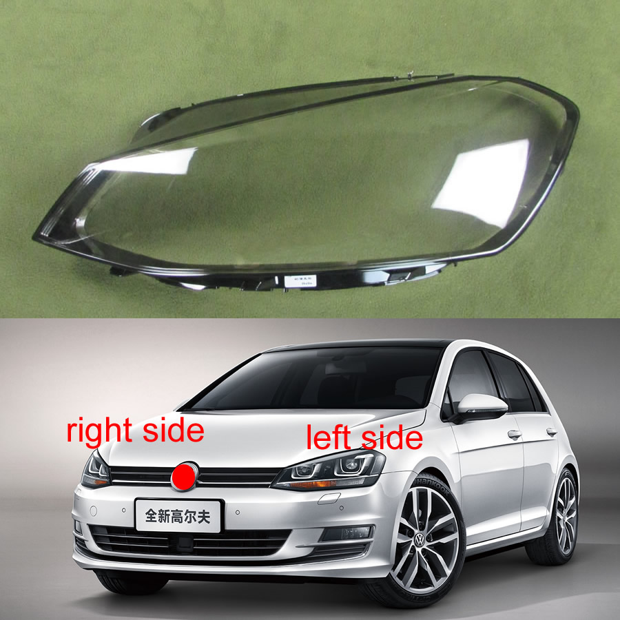 For Volkswagen VW Golf 7 MK7 2014 2015 2016 2017 Front Headlight Cover Lamp  Headlamp Cover Shell Mask Lampshade Lens Glass