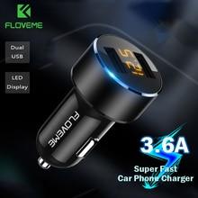 FLOVEME Mini Car Phone Charger Dual USB Car