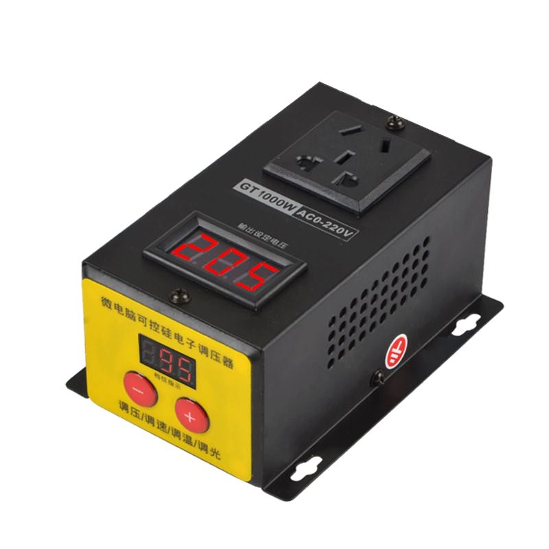 voltage regulator 220 v 10000W SCR Electronic Dimming Dimmer Thermostat Temperature Speed Adjust Controller(China)