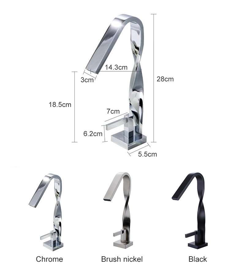 H0c9ad2fb9a774ac2ab422ae4fa5aae12s Bathroom Basin Sink Tall Faucet Hot and Cold Waterfall Mixer Tap Deck Mounted Chrome Finished Advanced Faucets