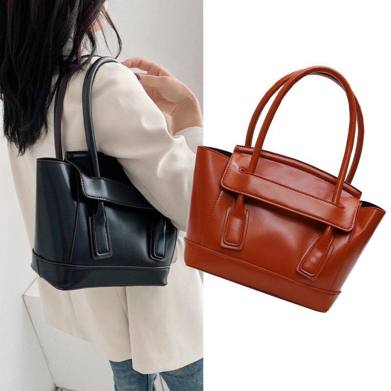 Luxury Women Handbags Trapeze Bags For Women 2019 Shoulder Bag Pu Leather Women Hand Bag Ladies Smile Tote Bags