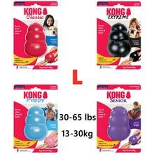L-tamanho kong clássico cão mastigar brinquedo coleção até 30-65lbs(13-30kg)
