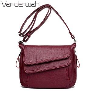 Image 1 - Hot Winter Style Bag Leather Luxury Handbags Women Bags Designer Women Shoulder Messenger Bags For Women 2020 Sac A Main Femme