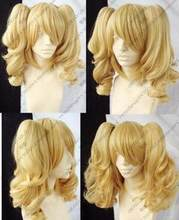 Jewelry Wig Hot! New Blonde Mixed Cosplay Split -Type Wig And With 2 PigTails Free Shipping(China)