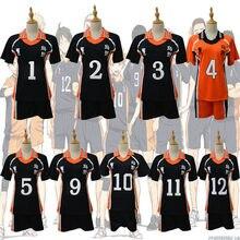 9 stilleri Haikyuu Cosplay kostüm Karasuno lise voleybol kulübü Hinata Shyouyou spor formaları üniforma