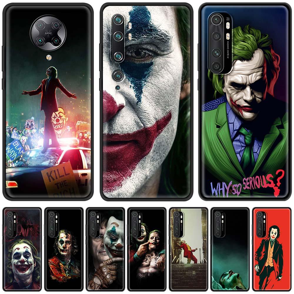 Funda de la película del Joker para Xiaomi Mi 9T 9SE 9 10T A2 8 Lite Note 10 Pro CC9 CC9E Poco X3 F1 A1 TPU, funda de carcasa blanda
