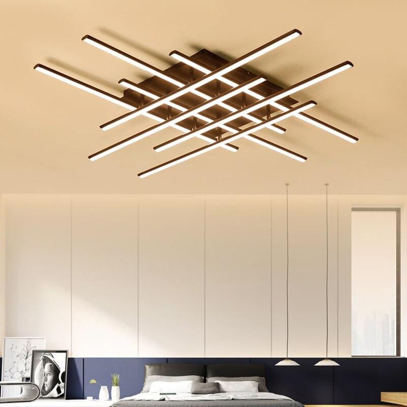 NEO Brilho Moderna Praça luminarias levou luzes de teto para sala de estar quarto sala de jantar lâmpada do teto Luminárias de Alumínio Branco