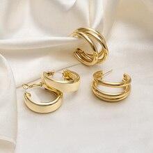 Fashion Minimalist Large Circle Earrings 2021 Trend Geometric Round Big Hoop Earrings For Women Girl Wedding Party Jewelry Gift