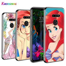 Silicone Cover Ariel Mermaid princess  for LG W30 W10 V50S V50 V40 V30 K50S K40S K30 K20 Q60 Q8 Q7 Q6 G8 G7 G6 ThinQ Phone Case smart mirror flip phone case for lg g8 thinq case clear view cover for lg v30 plus v40 thinq covers h930