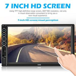 Image 5 - Reproductor Multimedia SWM N6 2DIN 7 pulgadas, con pantalla táctil, Bluetooth, vídeo estéreo para coche, MP4, MP5, USB, AUX, FM, Radio de coche, cámara de reserva