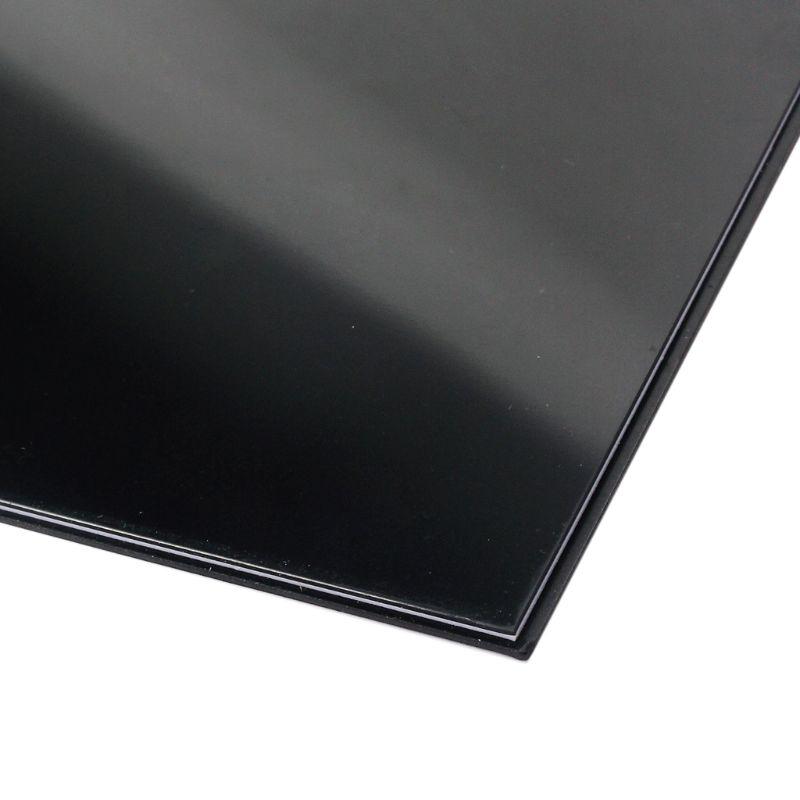 Plastic 3ply Guitar Body Blank Scratch Plate Pickguard Sheet Black M7DC