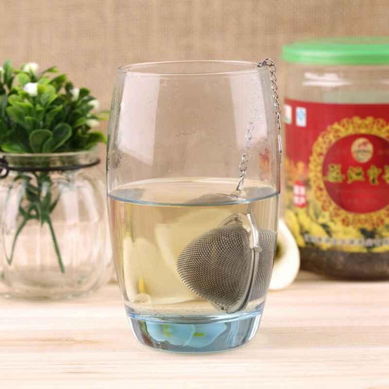 جديد 2 بوصة الشاي Infuser الكرة شبكة فضفاضة أوراق الأعشاب مصفاة قابلة لإعادة الاستخدام الصلب تأمين آمن تصفية أدوات مطبخ جهاز تخمير