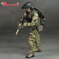 1/6 30cm Medieval Soldier Model Realistic Headsculpt DIY Movable US Army Ranger Military Figure