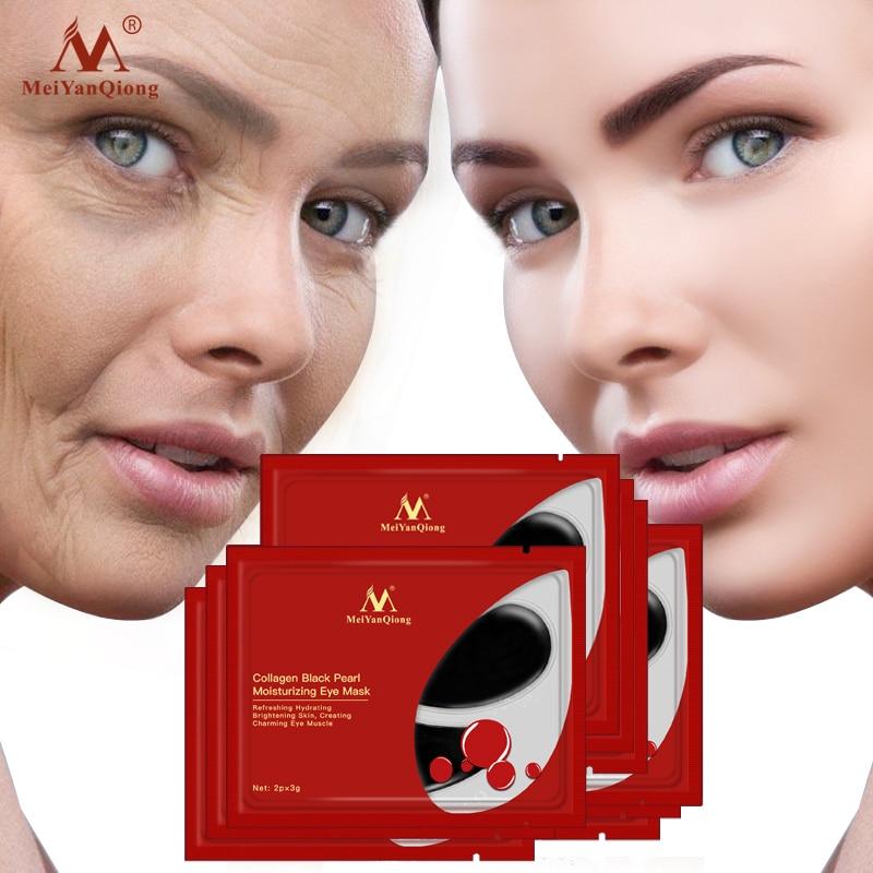 5pair/lot Black Pearl Eye Mask Collagen Crystal Gel Eye Patches Anti Wrinkle Dark Circles Anti-aging Moisturizing Eye Mask Care
