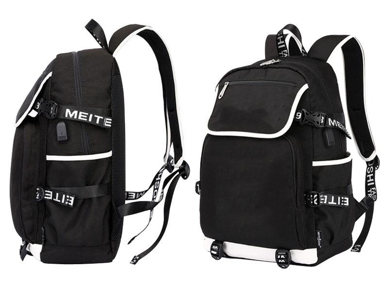 de carregamento usb crewmate portátil mochila viagem casual cosplay bookbag