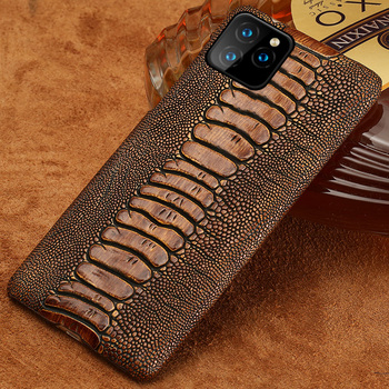 Genuine Cowhide Leather phone back cover case For Apple iPhone 11 Pro 11Pro Max XS Max XR 7 8 plus Ckhb-19W luxury Cover Case
