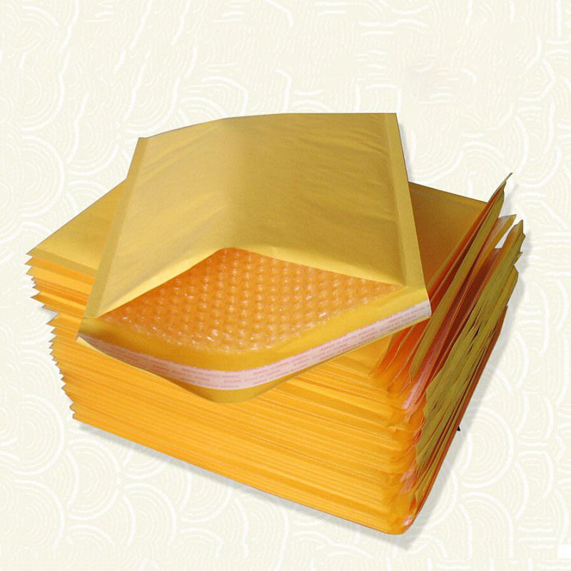 10pcs Kraft Paper Bubble Envelopes Bags 8sizes Bubble Mailers Padded Envelopes Packaging Shipping Bags Shockproof Courier Bags