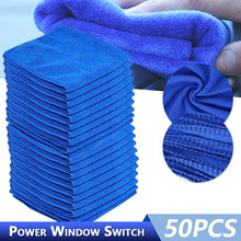 30x30CM Car Wash Microfiber Towel Car Cleaning Drying Cloth Hemming Car Care Cloth Detailing Car Wash Towel For Toyota