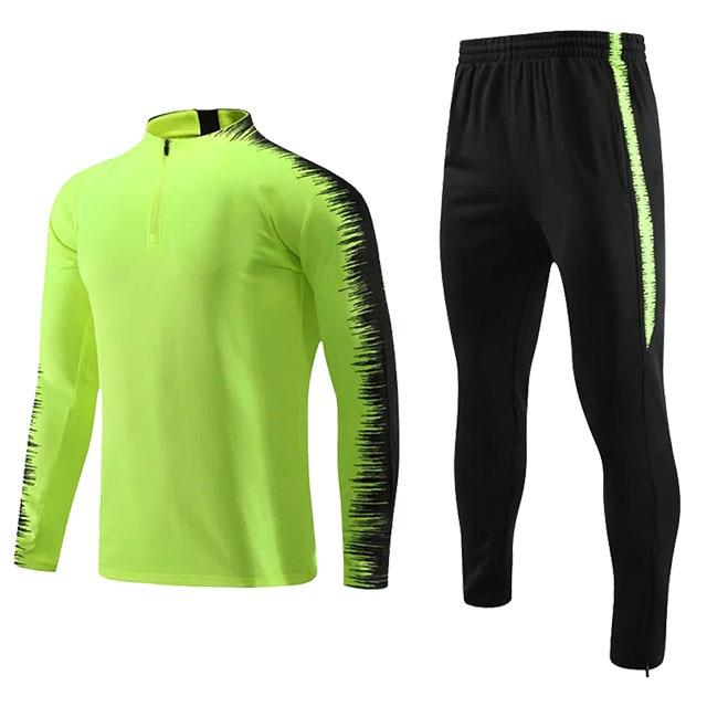 Kids Adults Soccer Jerseys Sets Survetement Football Kits Men Child Running Jackets Sports Training Tracksuit Uniforms Suit 12