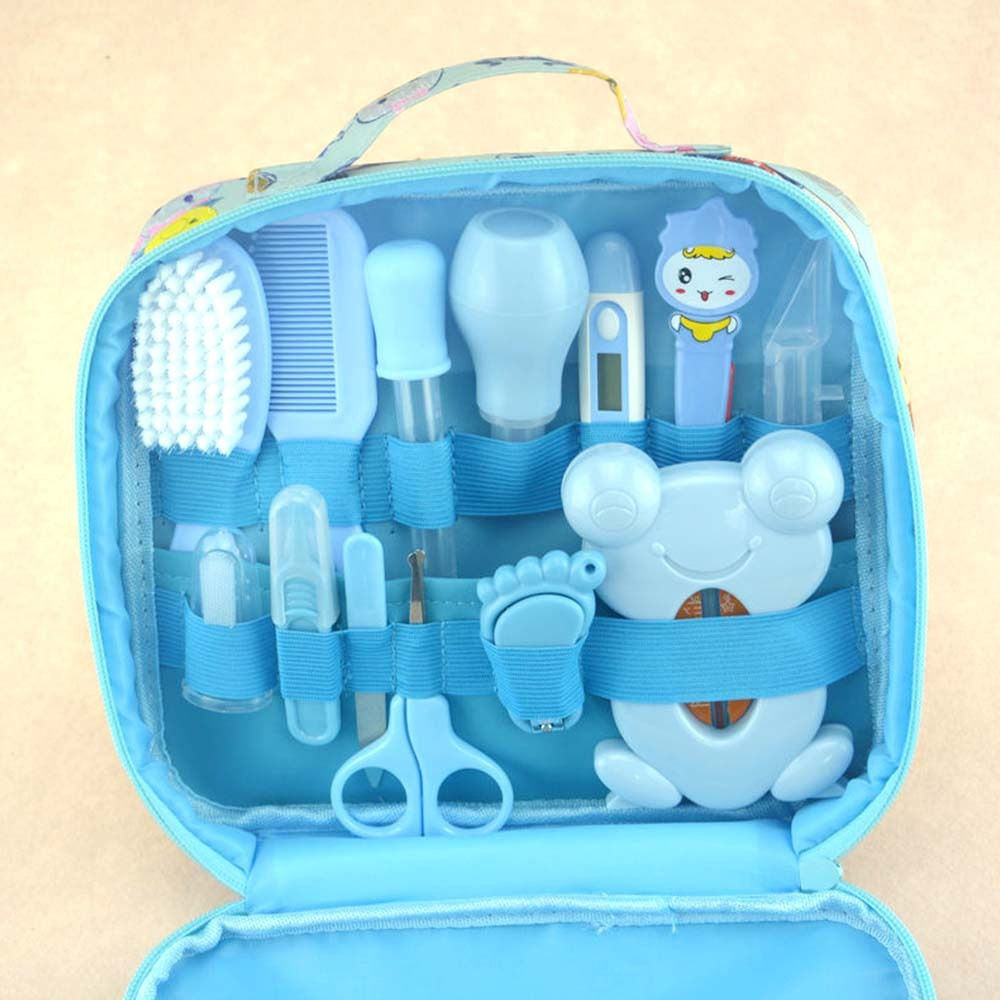 13 Pcs/set Multifunction Newborn <font><b>Baby</b></font> Kids Nail Hair <font><b>Health</b></font> <font><b>Care</b></font> Thermometer Grooming Brush Kit Healthcare Accessories Drop Ship image