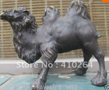 Free Shipping Two-humped camels in Western Regions Bronze Statue