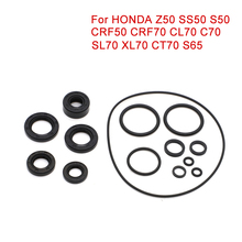 19pcs Engine Seal Set Engines Oil Seal O Ring For HONDA CT70 Z50 CL70 C70 CRF50 CRF70 SS50 S50 SL70 XL70 S65 Motorcycle Parts