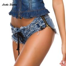 1pcs Low waist Sexy Women's denim shorts 2019 Summ
