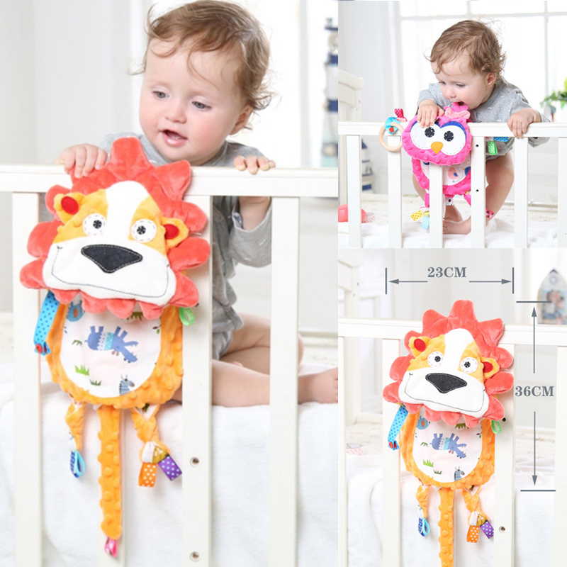 Infant Baby Animal Soothe Appease Towel Soft Plush Comforting Pacify Towel Appeasing Towel Blankie Soothing Towel Baby Toys Doll