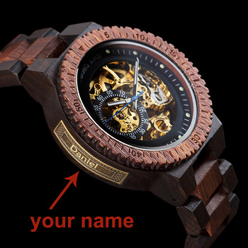 Personalized Customiz Watch Men BOBO BIRD Wood Automatic Watches Relogio Masculino OEM Anniversary Gifts for Him Free Engraving 1