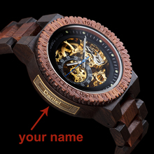 Personalized Customiz Watch Men BOBO BIRD Wood Automatic Watches