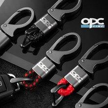 Auto keychain metall leder schlüssel kette Für Opel OPC Line Astra h g j k f Mokka Regal Zafira ein b Corsa c d Auto Innen Dekoration