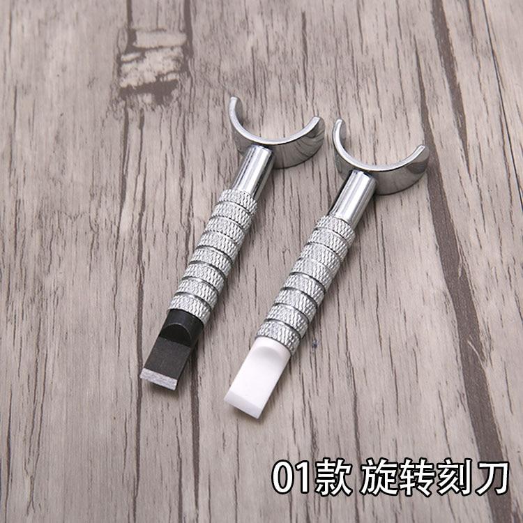 Coltello da intaglio manuale in pelle allungabile, rotazione della - Set di attrezzi - Fotografia 4