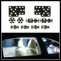 Rockeybright auto accessories 10pcs led dome interior lamp for audi q5 make up mirror led reading light