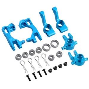 Image 3 - Dla 1/10 Traxxas Slash 4x4 aluminium Steering Knuckle Blocks Caster c piasty Stub Axle Carriers wymiana 6837 6832 1952