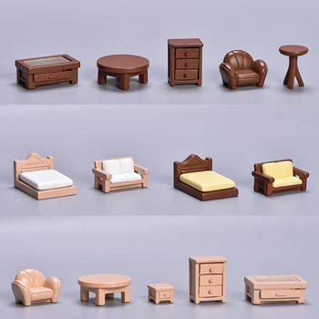 1:12 Dollhouse Kitchen Living Room sofa bed Drinking Fountains Dollhouse Miniature Toy Doll Food Kitchen Living Room Accessories image