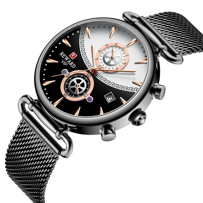 Image 4 - REWARD Chronograph Mens Watch Top Brand Luxury Military Sport Watches Fashion Stainless Steel Watch Men Clock Relogio MasculinoQuartz Watches   -