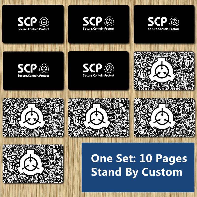 SCP Card Stickers Character Props COS Black Card Foundation Level Card Frosted Card Stickers Meal Card Bus Card Diy Crystal Card