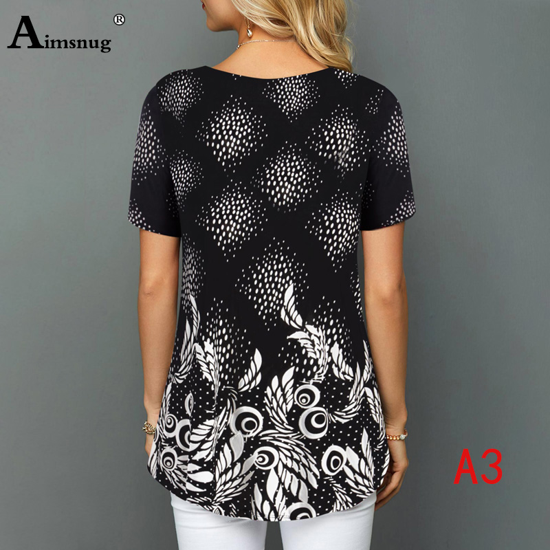 H0c9d190ae0ef4c95a68046d1201a2336l - Plus size 4xl 5xl Women Fashion Print Tops Round Neck Short Sleeve Boho Tee shirts New Summer Female Casual Loose T-shirt