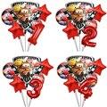6 шт с машинкой Маккуин на день рождения щит воздушный шарик из фольги в форме Baby Shower вечерние украшения для детей 18 дюймов круглый прокат ге...
