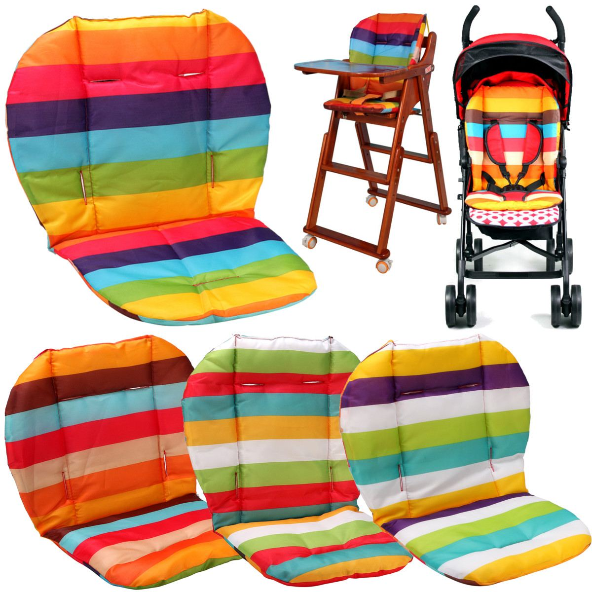 Almofada reforçada para cadeira infantil, almofada para cadeiras para alimentação, carrinho e esteira