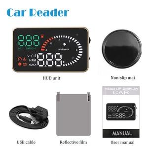 HUD Display X6 Car Head Up Display GPS OBD OBD2 Diagnostic Tool Projector Digital Speedometer Car Speed Security Alarm(China)