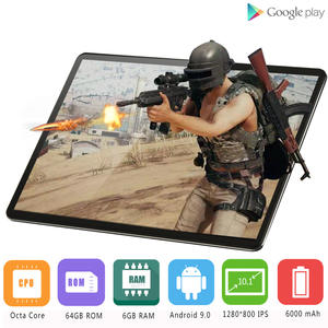 10inch Tablet Glass OS Super-Tempered Octa-Core Android 9.0 PC IPS 64GB 6GB-RAM 1280--800